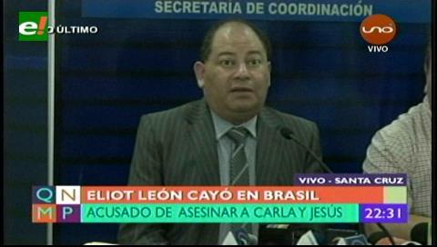 Eliot León está detenido en Brasil y será extraditado a Bolivia