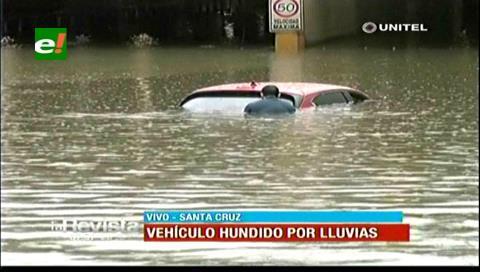 Santa Cruz: El túnel de San Aurelio está inundado y no hay paso
