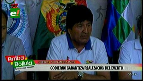 Evo pide que inauguración y cierre de Juegos Sudamericanos reflejen la riqueza cultural de Bolivia