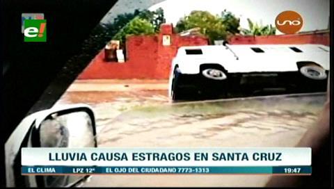 Así quedó Santa Cruz después de la torrencial lluvia