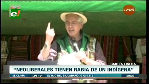 """Vicepresidente a indígenas: """"El odio contra Evo es el odio contra ustedes"""""""