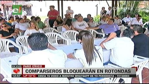 ACCC confirma que unas 200 comparsas bloquearán durante el paro cívico en Santa Cruz