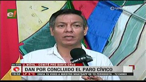 """Fernando Cuéllar: """"Gracias pueblo cruceño"""""""