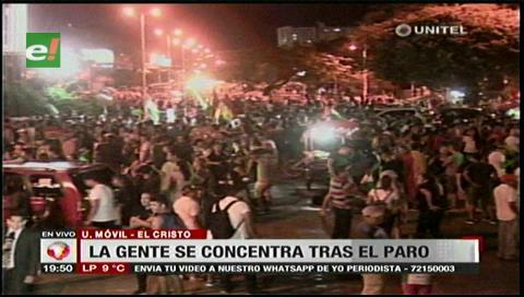 Santa Cruz: Ciudadanos se concentraron en El Cristo tras la culminación del paro cívico