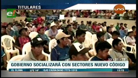 Video titulares de noticias de TV – Bolivia, mediodía del sábado 13 de enero de 2018