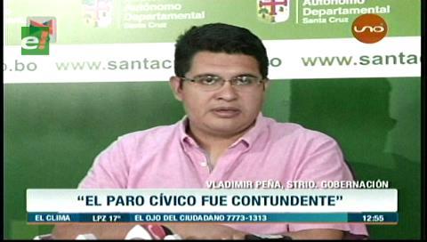 Gobernación cruceña llama a Evo a respetar el 21F y no exacerbar la confrontación con racismo y odio