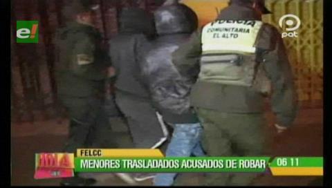 El Alto: Aprehenden a 2 menores acusados por robo