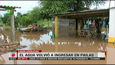 Inundación: Coordinan ayuda con la Gobernación para los pobladores de Pailas