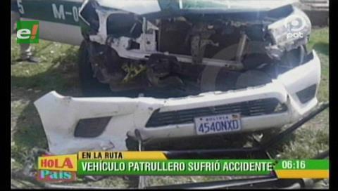 Patrulla sufre accidente de tránsito luego de prestar servicio en el rally Dakar