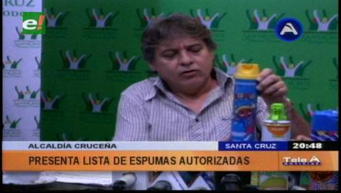 Municipio cruceño autoriza cinco espumas para Carnaval