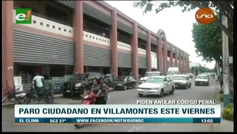 Villamontes anuncia paro con bloqueo de ruta internacional