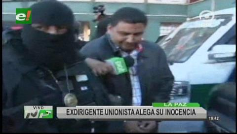 La Paz: Exunionista dormirá en celdas policiales hasta su audiencia por el caso terrorismo