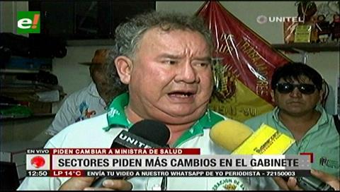 Sectores cruceños piden a Morales cambiar a los ministros de Salud y de Educación