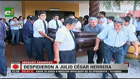Familiares de Julio César Herrera le dieron el último adiós