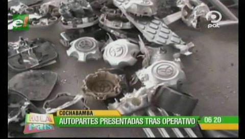 Cochabamba: Diprove devuelve autopartes a dueños