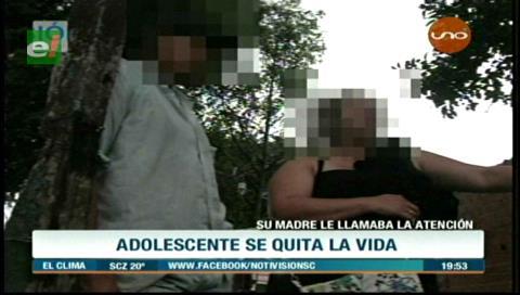 Adolescente se suicidó porque su madre lo regañó