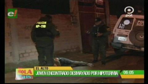 El Alto: Salvan a un joven de morir por enfriamiento