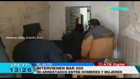 Intervienen por 21va vez el BAR 300 que funcionaba clandestinamente en El Alto