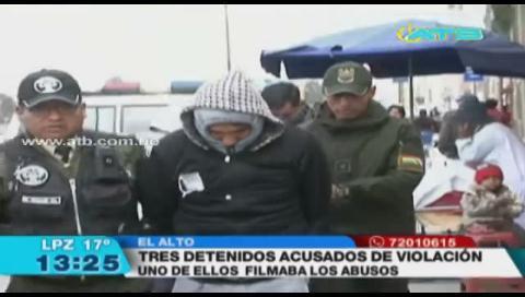 Arrestan a tres individuos acusados de violación en El Alto