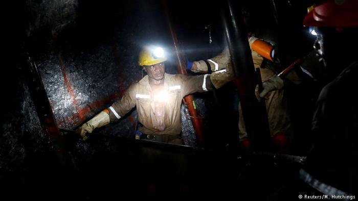 Südafrika Bergbauarbeiter
