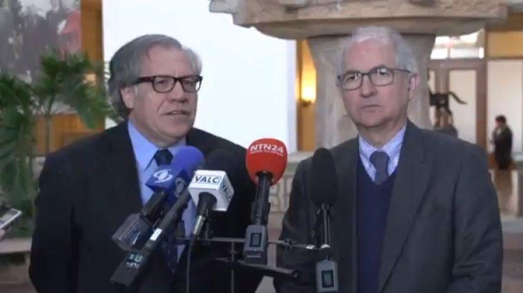 Luis Almagro y Antonio Ledezma también se reunieron este viernes en la OEA y brindaron una rueda de prensa