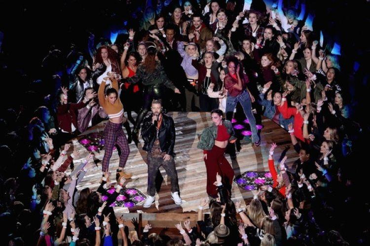 Justin Timberlakefue la estrella del entretiempo del Super Bowl LIIen el U.S. Bank Stadium (Getty Images)