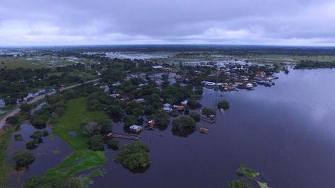 Una vista panorámica del municipio de Loreto inundado.