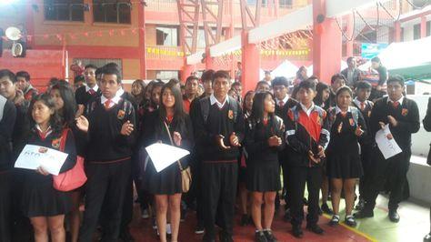 Inauguración del año escolar 2018 en el colegio Clemente Maurer de la capital del país. Foto: Yuvert Donoso