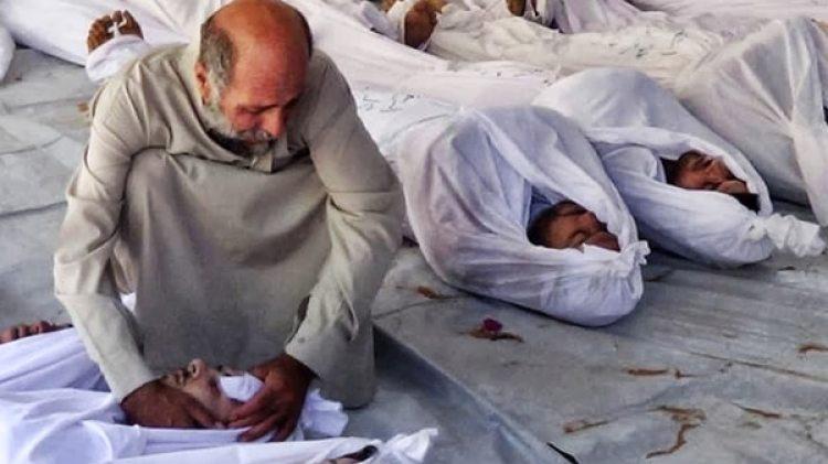 Víctimas de armas químicas en Siria (AP)