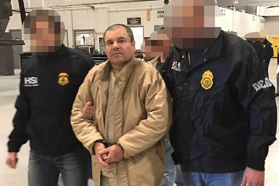 Joaquín Guzman Loera, el Chapo, a su llegada a Nueva York el 20 de enero de 2017.