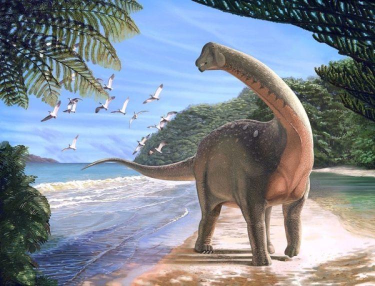 Reconstrucción de la vida de los Mansourasaurus shahinae en su época (Andrew McAfee / Carnegie Museum of Natural History)