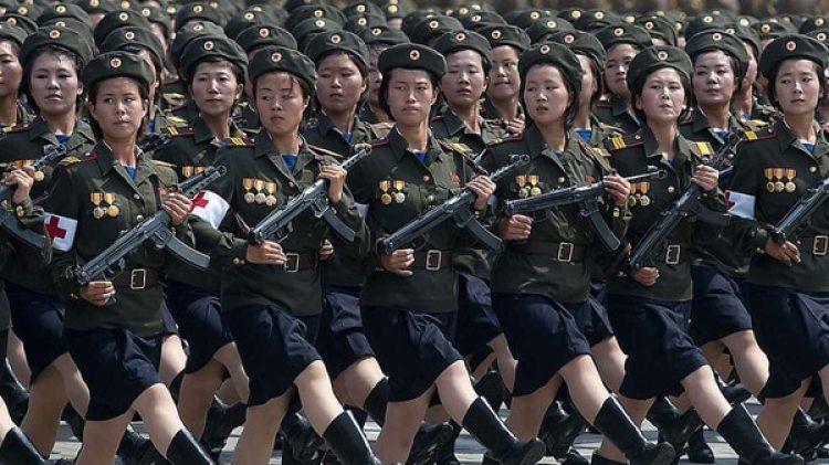 Una división de muejres del Ejército de Corea del Norte