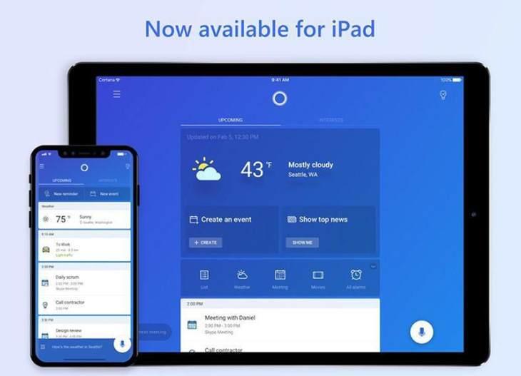 Cortana-iPad