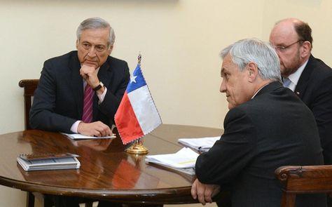 Heraldo Muñoz y Sebastián Piñera en una fotografía de archivo.