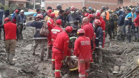 Labores de rescate en Tiquipaya