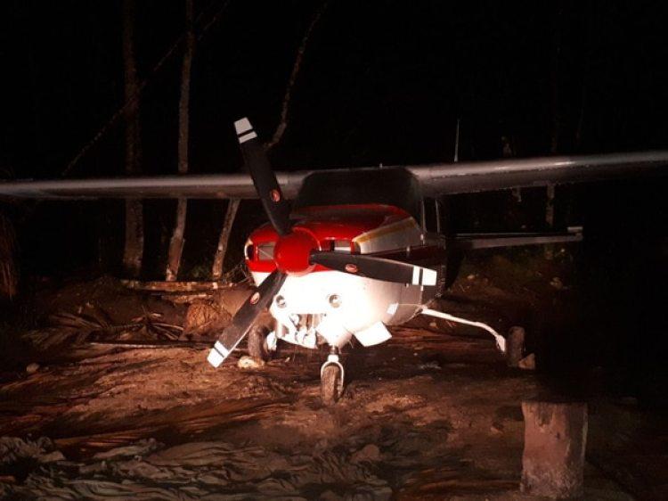 La avioneta usada por los narcotraficantes