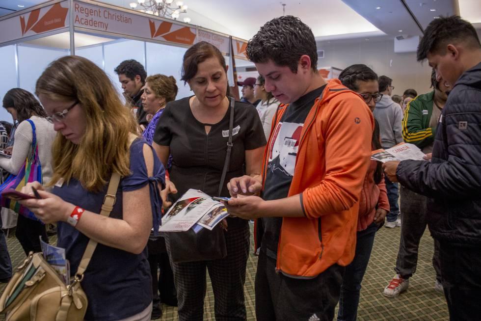 Asistentes a EduCanada en la Ciudad de México el domingo pasado.