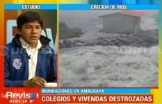 Más de mil familias están afectadas por la crecida de tres ríos en Guanay