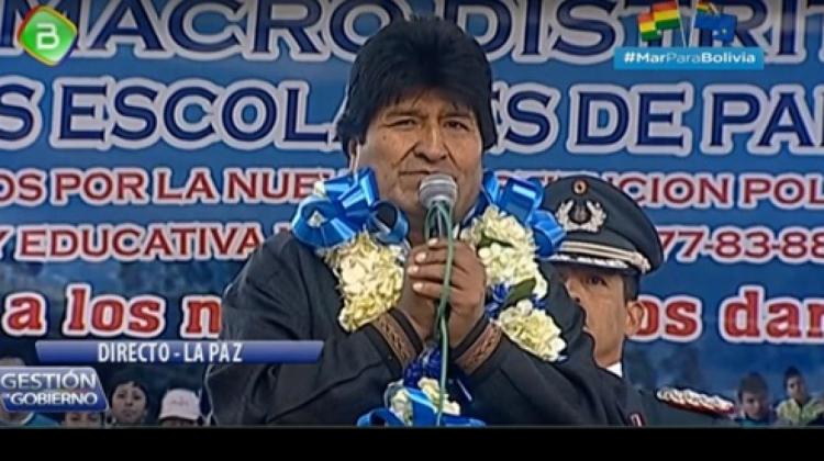 Santa Cruz marcha por repostulación de Evo Morales