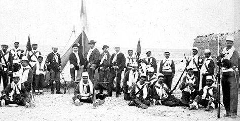 Historia. Soldados que participaron del combate de Canchas Blancas, según el Ministerio de Defensa.
