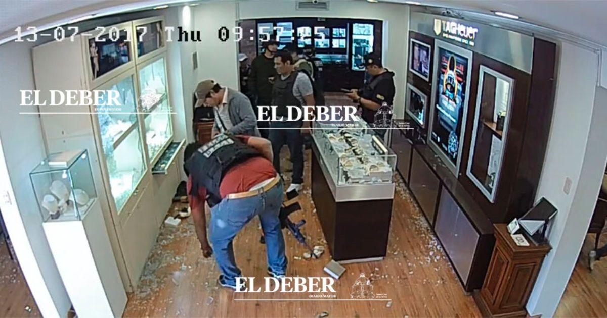 Último video muestra a policías en el interior de Eurochronos