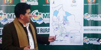 Gobierno: Desastres naturales sólo afectan el 1,3% de los cultivos de Bolivia