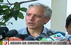 Garcia Linera dice que aprendieron la lección e intentarán ganarse a clase media
