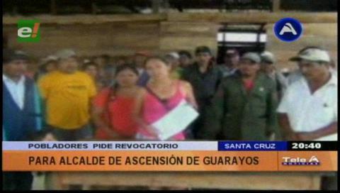 Pobladores piden el revocatorio del alcalde de Ascención de Guarayos