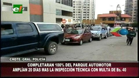 Personas que no realizaron la inspección técnica vehicular tienen una prórroga de 20 días