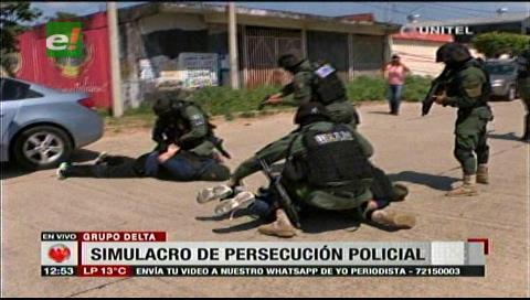 Santa Cruz: Simulacro de persecución policial causó susto a transeúntes
