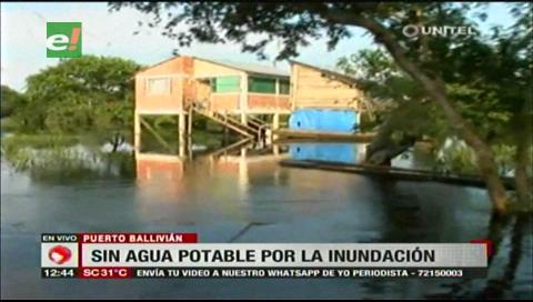 Puerto Ballivián se encuentra bajo el agua tras el desborde del río Ibare