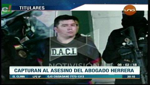 Video titulares de noticias de TV – Bolivia, noche del jueves 8 de febrero de 2018