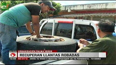 Policía recuperó llantas robadas de una empresa