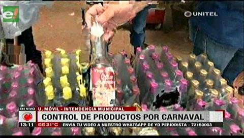 Plan Carnaval 2018: Municipio cruceño realiza el control de productos